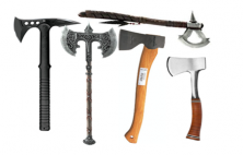 Axes, hatchets and ice picks